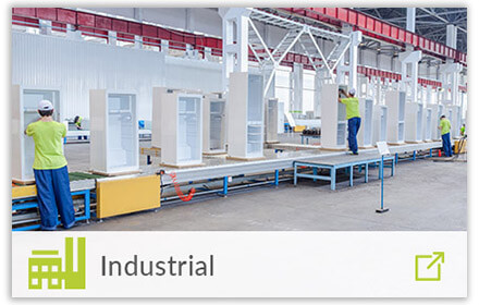 industrial factory with industrial icon